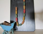 Toy Doll Carriage and Teething Rubber Necklace