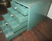 Small Divided Drawers Storage Box - Vintage Metal