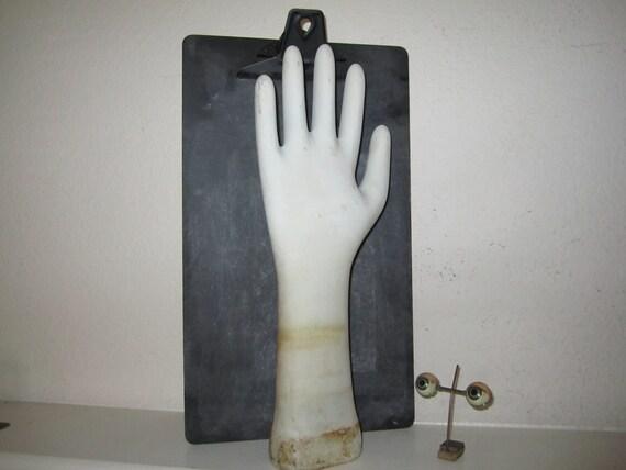 Glove Mold Unglazed Porcelain