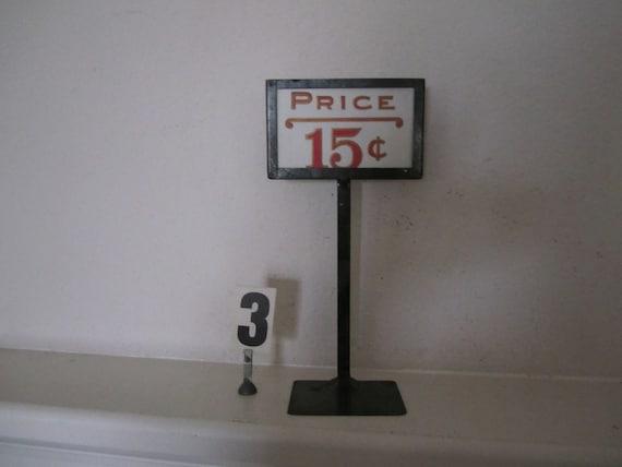 Store Price Sign Display Vintage