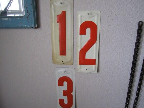 Sign Number Three Vintage