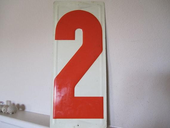 Industrial Number Two Metal Vintage Gasoline