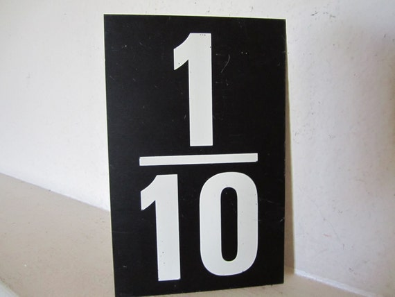 Vintage One Tenth or Two Tenth Number Double Sided