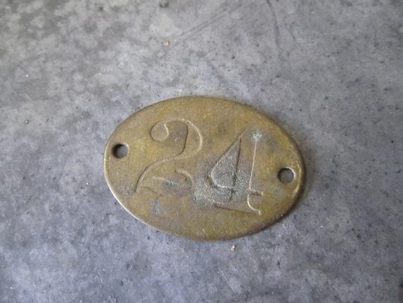 Brass Tag Number Twenty Four