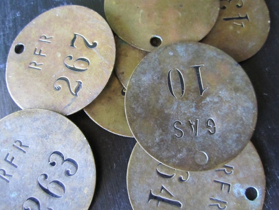Brass Round tag Number 263