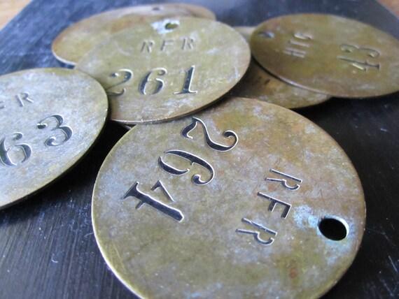 Brass Tag Number 264 Vintage