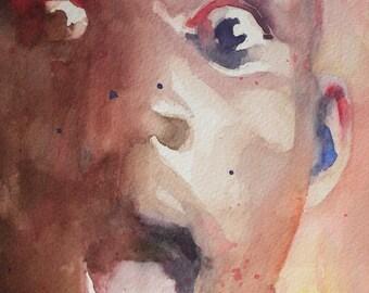 Original Watercolor Portrait - Kevin Garnett