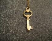 Gold Filled Key Necklace