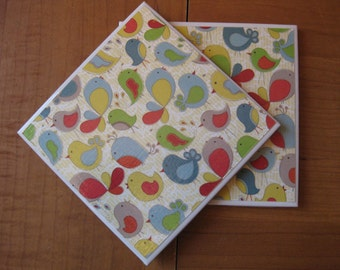 BIRDIES - Ceramic Coasters - set of 4