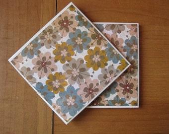 BUNCHA FLOWERS - Ceramic Coasters - set of 2