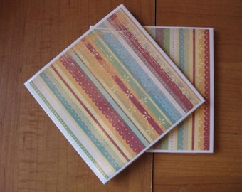 FRILLY FLOWERS - Ceramic Coasters - set of 4
