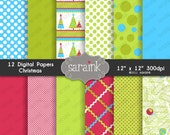 Christmas Digital Papers Download - Graphic Scrapbook Papers