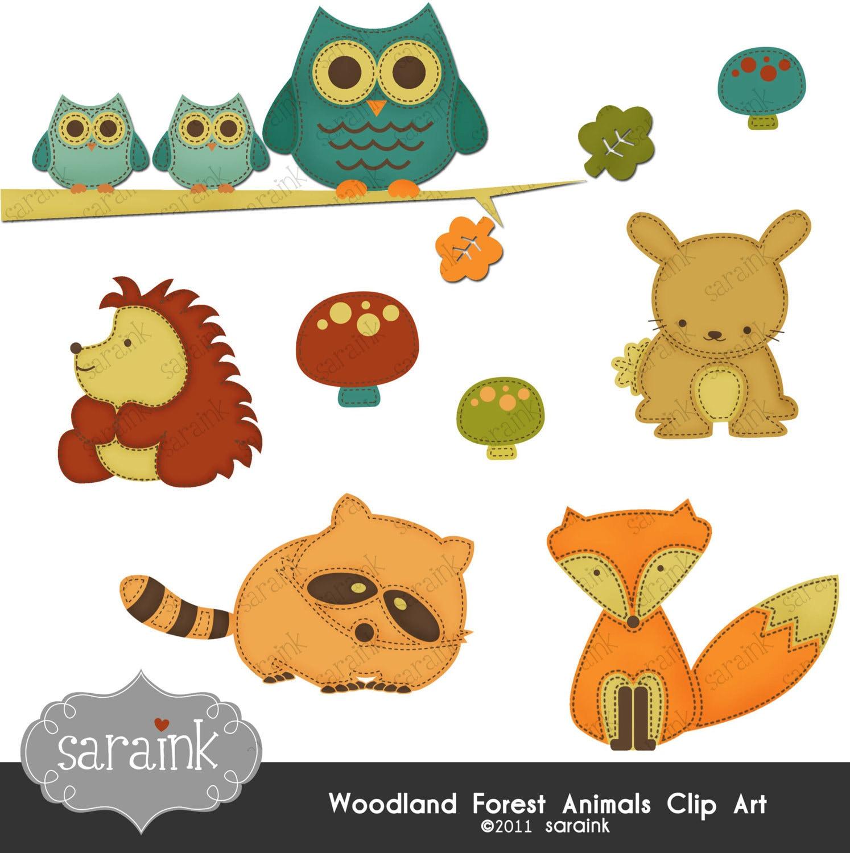 free clip art woodland animals - photo #43