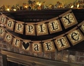 Wedding Banner Shower Bridal Happily Ever After  Anniversary  Garland Hanging Sign Photo Prop (W47)