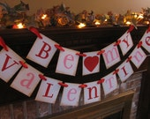 Valentine Banner  Be My Valentine Party Decoration Red and Pink Sign Great Photo Prop Handmade Valentine (V16)