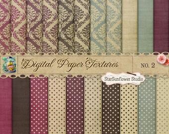 Damask & Dots Digital Scrapbook Paper Pack No 2 12x12