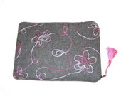 Nook, Kindle, Sony, Kobo eReader sleeve cover padded with zipper and tassel