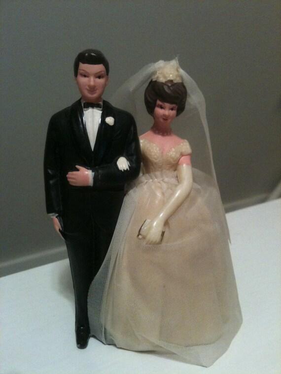 Wedding Cake Topper- Vintage Bride and Groom