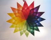 Rainbow Spectrum Waldorf Window Star