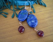 On hold for Marguerite:) Peace & Prosper Blue Lapis Earrings