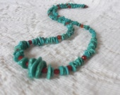 Turquoise & Carnelian Necklace