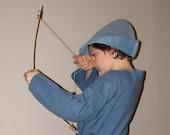 Blue Robin Hood Style Hat