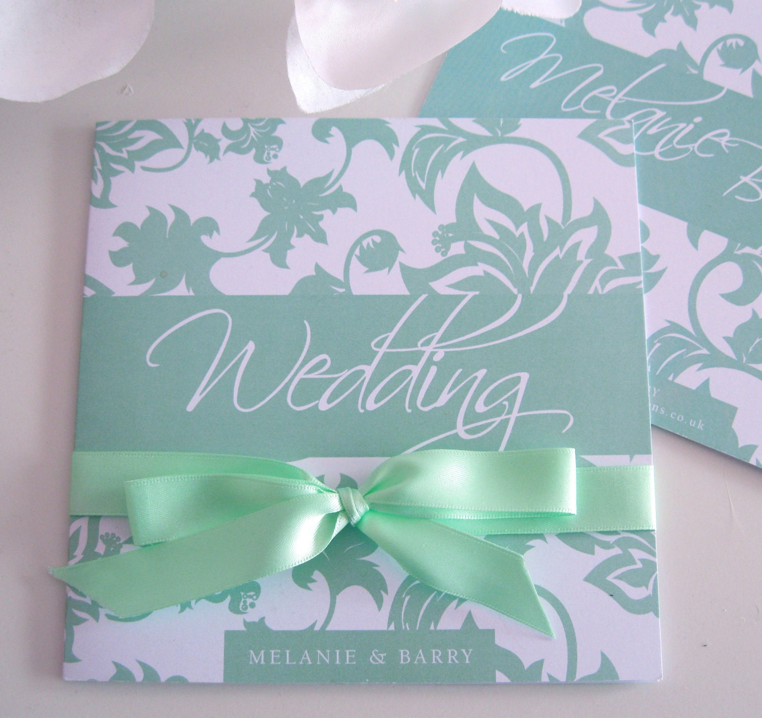Matching Save The Date And Wedding Invitations: So Vintage Wedding Invites In Mint Green Matching Save The