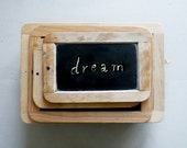 VINTAGE ///// Chalkboards, Set of 3