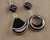 RESERVED LISTING Do not Purchase Asymmetrical Op Art Earrings