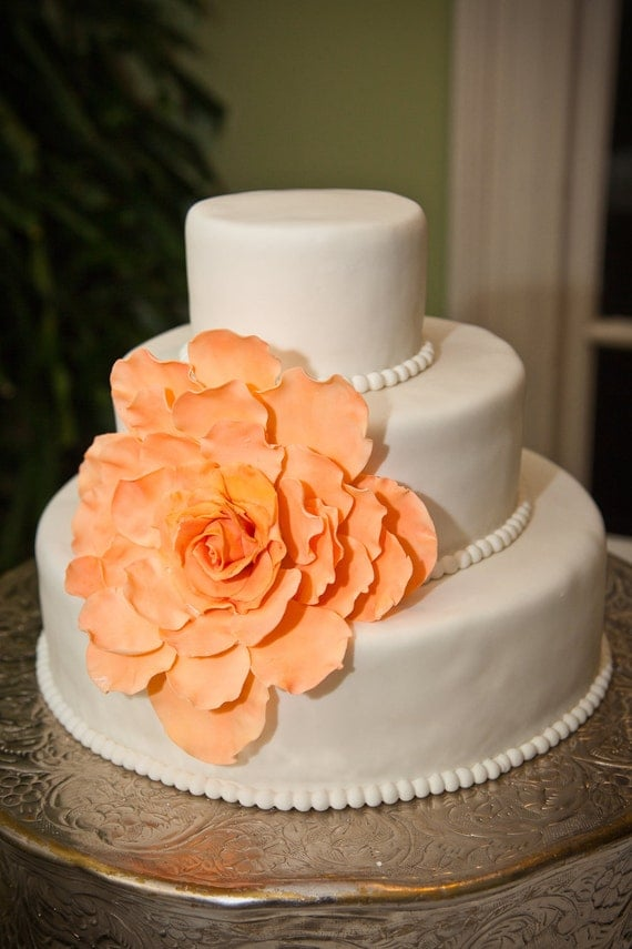 gumpaste flower wedding cake toppers large gumpaste flower for wedding cakes edible by 15024