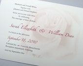 Custom Wedding Invitation Delicate Dusty Pink Rose Traditional Floral Motif Classic Garden Summer Wedding