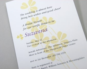 Bridal Shower Invitation Golden Yellow Flowers Traditional Classic Floral Bridesmaids Custom Invite