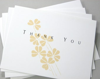 Thank You Notes Golden Blooms Fall Wedding Thanks Yellow Flowers