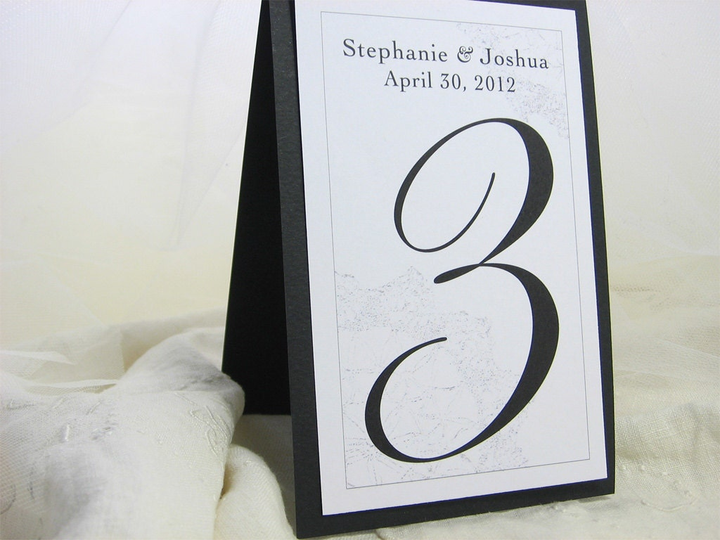 Wedding Reception Table Number Layered Tent Card Traditional