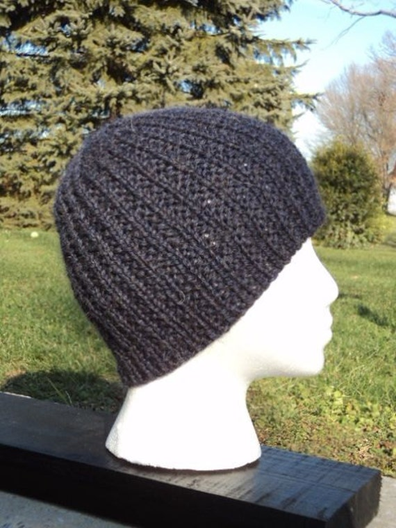 Men's Knitted Beanie, wool/mohair