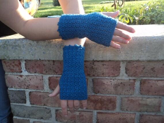Clearance, 50% off, Fingerless Gloves, Wool, Hand Crochet