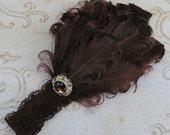Vintage Featherband - Brown Feather Headband