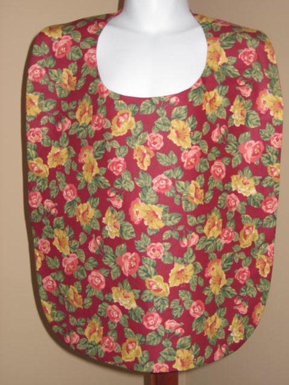 Burgundy Floral Adult Garment Protector