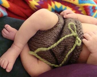 Easy Diaper Cover Knitting Pattern - Beginner Diaper Cover Knitting Pattern - Diaper Cover Knitting Pattern - Knit Diaper Cover Pattern