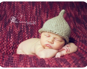 Little Dew Drop Pixie Hat Knitting Pattern - PDF Sale - Instant Digital Download