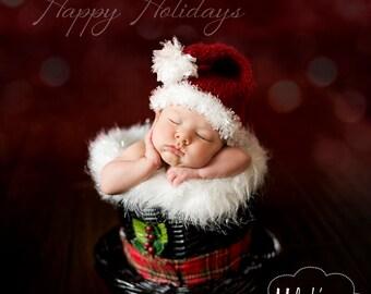 Baby Santa Hat Knitting Pattern - Adult Santa Hat Knitting Pattern - Knit Santa Hat Pattern - Christmas Knit Pattern