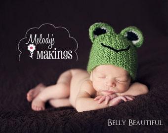 Handsome Hoppy Frog Hat Pattern - 9 Sizes - PDF Sale - Instant Digital Download