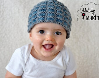 Simple Square Beanie Knitting Pattern - Sizes Preemie through Adult Male Included - PDF Sale - Instant Digital Download