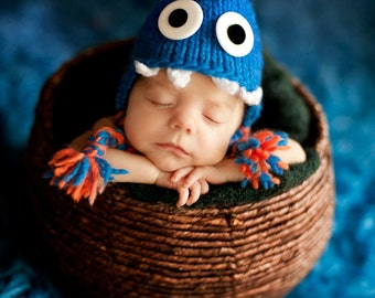 Monstosaurus Hat Knitting Pattern - All Sizes From Newborn through Adult Man Included - PDF Sale - Instant Digital Download