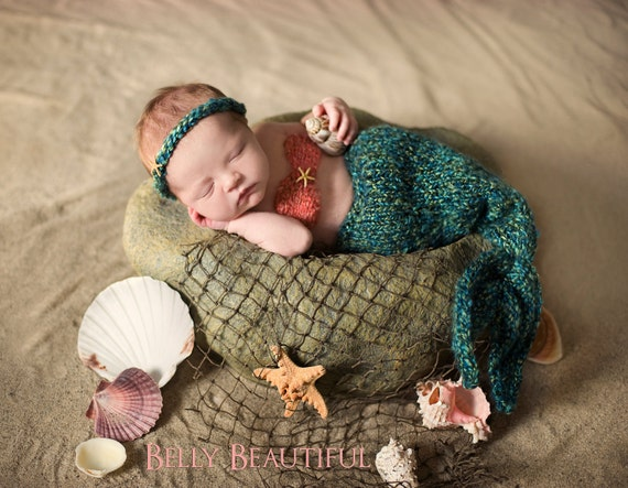 Part of Your World - Mermaid Set Pattern - 5 Sizes - PDF Sale