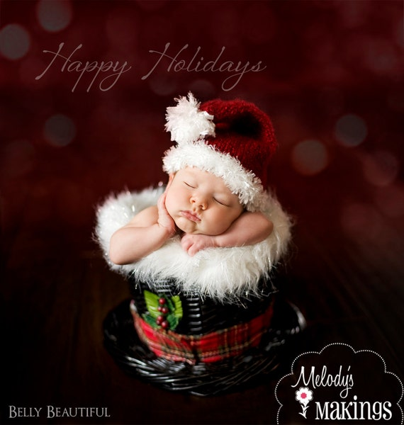 Santa Hat Knitting Pattern - All sizes From Preemie through Adult Male Included - PDF Sale