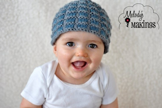 Simple Square Beanie Pattern - Sizes Preemie through Adult Male - PDF Sale
