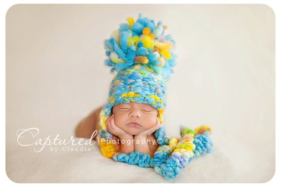 Super Bulky Thick and Thin Gumball Hat Pattern - 4 Sizes - PDF Sale