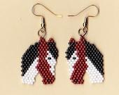 Handmade Beaded Paint Horse Earrings