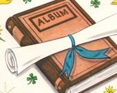 Vintage Graduation Greeting Card:  Sending Warm Congratulations UNUSED